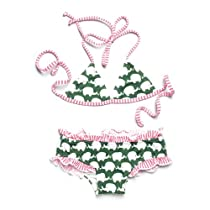 Lilo Tati Army Elephant Parade Girly Ruffle Brief Bikini, 7