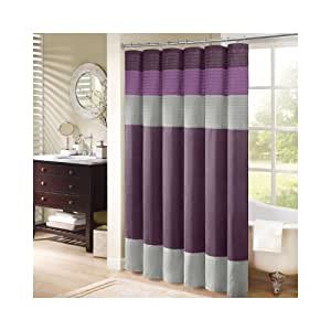"Madison Park Amherst Shower Curtain - Purple - 72x72"""