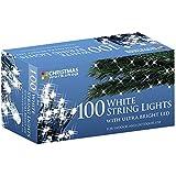 The Christmas Workshop 100 LED String Lights, Bright White