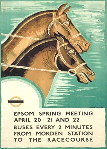 London Underground-corsa Vintage riunione di EPSOM, aprile 1935 Cartolina illustrata, formato A3, 250 g/mq, riproduzione