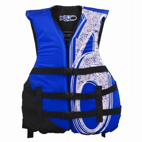 X20 Universal Adult Life Jacket Vest - Blue & Black