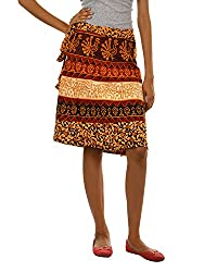 Fashiana Girls|Women's Cotton Wrap Skirt (Fsktf113Ktm _Musturd _Free Size)