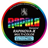 Rapala(ラパラ) ラピノヴァXマルチカラー0.6号/13.9lb/6.3kg/200m RXC200M06MC