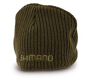 Shimano Tribal Olive Winter Beanie Hat