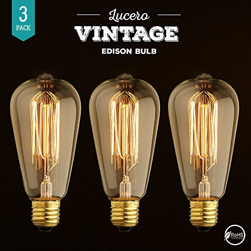 save 67 lucero edison bulb st64 60w dimmable vintage. Black Bedroom Furniture Sets. Home Design Ideas
