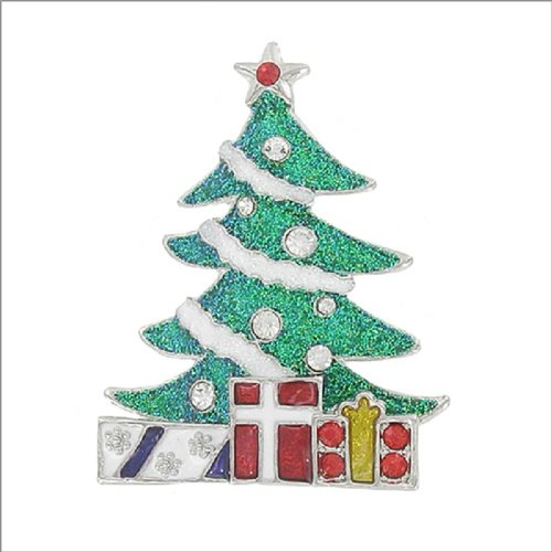 Christmas Tree with Presents Design Pin #041885