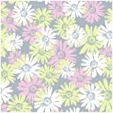 York Wallcoverings BT2737 Daisy Camo Wallpaper, Platinum Silver/Cotton Candy Pink/Celery Green