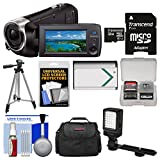 Sony Handycam HDR-PJ440 8GB Wi-Fi 1080p HD Video Camera Camcorder with Projector + 32GB Card + Case + LED Light + Battery + Tripod + Kit