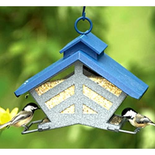 Akerue 74240 H-F Chalet Style Double-Sided Bird Feeder