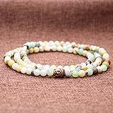 AmorWing-108-Vielfrbig-Amazonit-Buddha-Zubehr-Buddhistische-Gebetsarmband-fr-DamenHerren