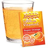 Emergen-C Vitamin C Fizzy Drink Mix, 1000 mg, Super Orange, 0.3 Ounce Packets 30 packets ~ Emer'gen-C