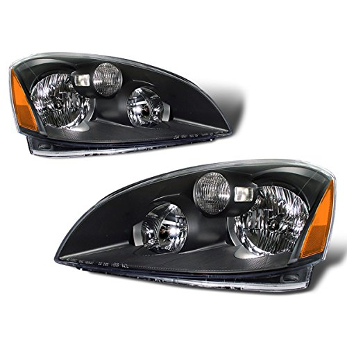 SPPC Black Headlights For Nissan Altima - (Pair) (2002 Nissan Altima Headlights compare prices)