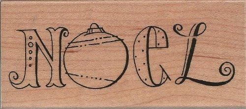 Doodle Noel Wood Mounted Rubber Stamp (N198)