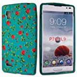 STYLEYOURMOBILE {TM} LG OPTIMUS L9 P760 PINK ROSE GREEN SILICONE PROTECTION CASE COVER