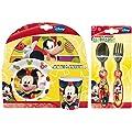 Disney 5-Piece Polypropylene Mickey Mouse Dinner Set, Set of 5