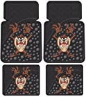 Tasmanian Devil Taz w/ Attitude 4 Pc Floor Mats Set