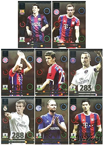 2014/2015 Panini Adrenalyn Champions League EXCLUSIVE 8 Card Limited Edition Set! Rare Set Imported from Europe ! Includes Lionel Messi, Phillip Lahm, Frank Ribery and Many More ! lionel richie hove