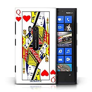 STUFF4 Phone Case / Cover for Nokia Lumia 920 / Queen of Hearts Design