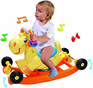 Pavlov'z Toyz 2-in-1 Rocking and Wheeled Electronic Pony Set