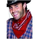 Smiffy's - Rotes Cowboyhalstuch Cowboy Halstuch rot gemustert Zubehör Hals Tuch