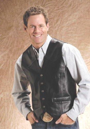 Western Nappa Lamb Vest - Buy Western Nappa Lamb Vest - Purchase Western Nappa Lamb Vest (Roper, Roper Vests, Roper Mens Vests, Apparel, Departments, Men, Outerwear, Mens Outerwear, Vests, Leather, Leather Vests, Mens Vests, Mens Leather Vests)