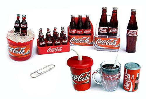8 Pcs./Set Coca Cola Coke Fridge Magnet, Collectables Dollhouse Miniature Mini Fridge Magnet front-471789