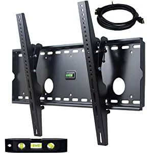 "VideoSecu Tilting TV Wall Mount Bracket for Panasonic HDTV TC-L42U30 TC-P5032C TC-P50S30 TV with Free 7ft HDMI Cable and 6"" 3-Axis Magnetic Bubble Level M72"