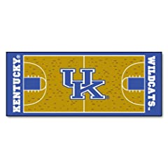 Buy FANMATS NCAA University of Kentucky Wildcats Nylon Face Basketball Court Runner by Fanmats