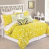 Trina Turk 3-Piece Ikat Comforter Set, Queen, Yellow
