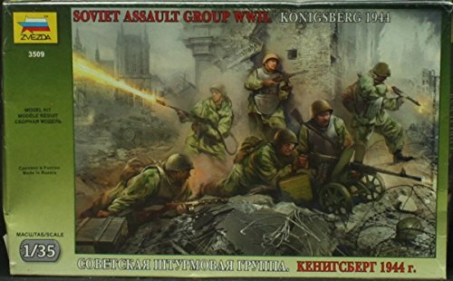 Zvezda Models 1/35 Soviet Assault Troops WWII 6 Figures Set