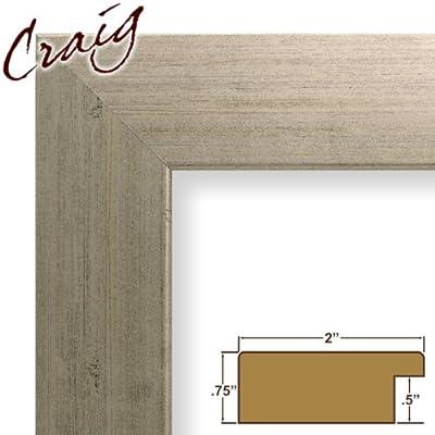 20x32 Custom Picture Frame / Poster Frame 2 Wide Complete Olde World Silver Frame (74068)