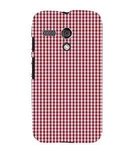Small Red Checks 3D Hard Polycarbonate Designer Back Case Cover for Motorola Moto G X1032 :: Motorola Moto G (1st Gen)