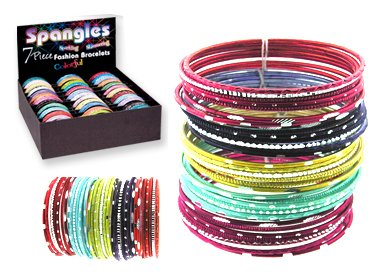 WHOLESALE LOT w/ DISPLAY 36 sets Spangles 7 Piece Sparkling Bracelets