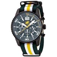 [ハンティングワールド]Hunting world 腕時計 ゼフィロ グリーン リボンベルト 10気圧防水 クォーツ メンズ HW019GR メンズ 【正規輸入品】