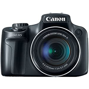Canon PowerShot SX50 HS 12MP Digital Camera with 2.8-Inch LCD (Black) from Canon