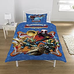 Skylanders Supercharged Childrens/Kids Official Glow In The Dark Single Duvet (Twin) (Multicolored)