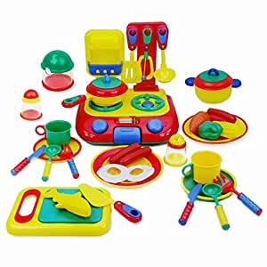 Kitchen toys set early learning classic toys pretend play for Kitchen set toys amazon