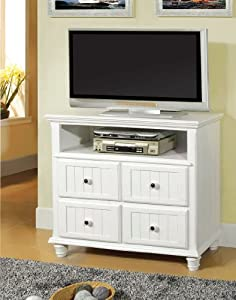 Willow creek white cottage media chest bedroom furniture sets for White media chest for bedroom
