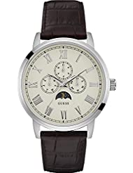 Guess Analog White Dial Watch For Mens -W0870G1