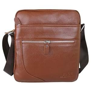 Man Leather ipad Bag / Men's Shoulder Bag / Messenger Bag - 100% Genuine Full Leather - Designed to fit perfect your IPad / Tablet - Brown Colour