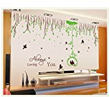Asmi Collection Double Size PVC Wall Stickers Wall Decals Tree branches and birds