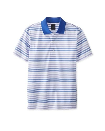 TailorByrd Men's Striped Short Sleeve Polo