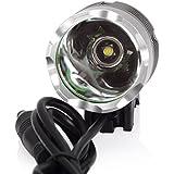 Lampe avant Phare avant pour vélo / VTT / Enduro éclairage avant 3 X 12 watts (3 × CREE XM-L T6 LEDs) 3600 Lumens rechargeable étanche antichoc de 3 mode de lumière + Batterie 4* 18650 Batteries Inclus + Chargeur