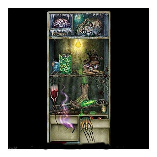 [Bloody Body Part-REFRIGERATOR DOOR COVER-Haunted House Prop Halloween Decoration U.S Best Seller!] (Dexter Lab Costume)