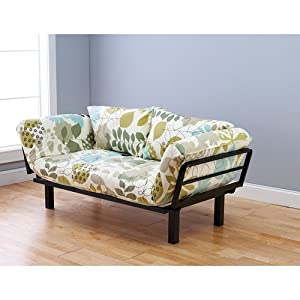 futon sofa couch and daybed or twin bed size with 6 mattress floral ...