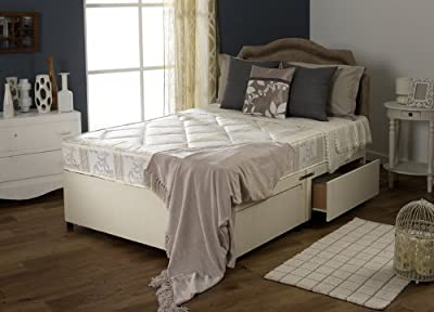 Happy Beds Luxury Divan Bed Set With Quilted Mattress No Drawers Headboard