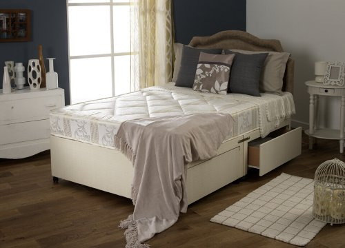 Bedroom furniture luxury divan bed set no drawers with quilted mattress headboard not for Quilted headboard bedroom sets