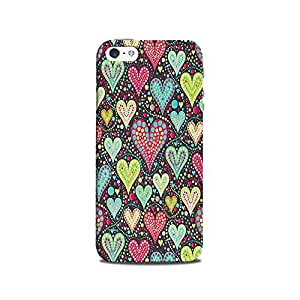 Mikzy Beautiful Dotted Hearts Pattern Printed Designer Back Cover Case for Iphone 5/5S (MultiColour)
