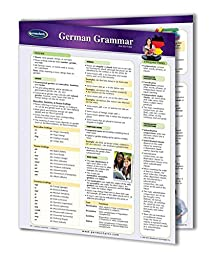 German Grammar - Language Quick Reference Guide by Permacharts