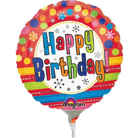 Bright Happy Birthday Mini Anagram Balloons